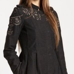 Free People Free People Embellished Sergeant Coat